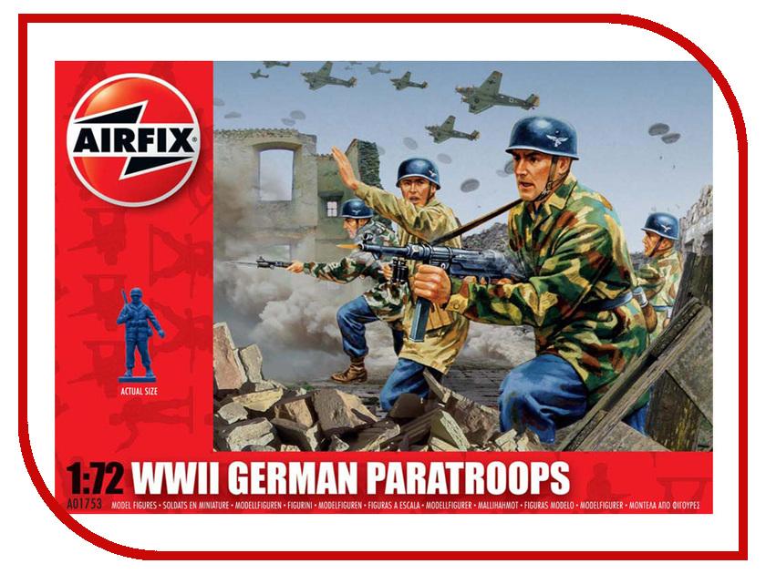 Сборная модель AIRFIX Немецкие парашютисты A01753 немецкие карнизы где можно