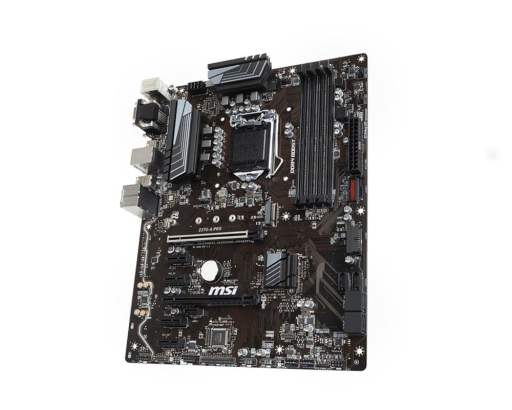 Материнская плата MSI Z370-A Pro автомобильный потолочный монитор full hd 13 3 ergo er13and на android черный