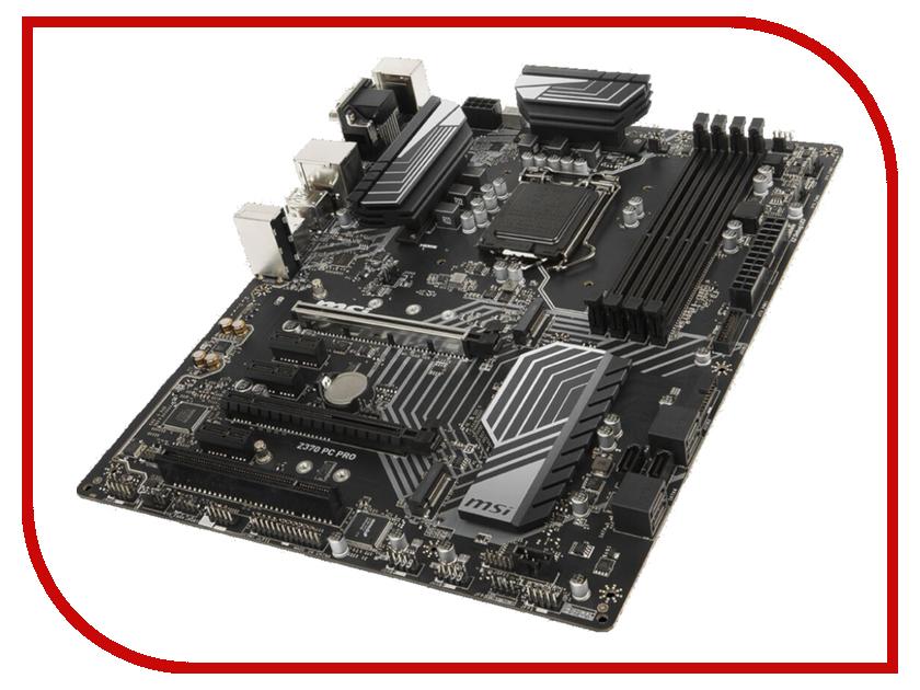 Материнская плата MSI Z370 PC Pro материнская плата msi h110m pro vd