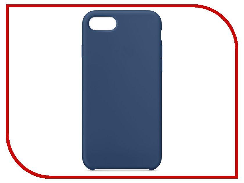 Аксессуар Чехол APPLE iPhone 8 / 7 Silicone Case Blue Cobalt MQGN2ZM/A аксессуар чехол apple iphone 8 7 leather case cosmos blue mqhf2zm a