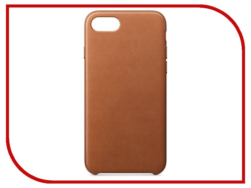 Аксессуар Чехол APPLE iPhone 8 / 7 Leather Case Saddle Brown MQH72ZM/A аксессуар чехол apple iphone x leather case saddle brown mqta2zm a