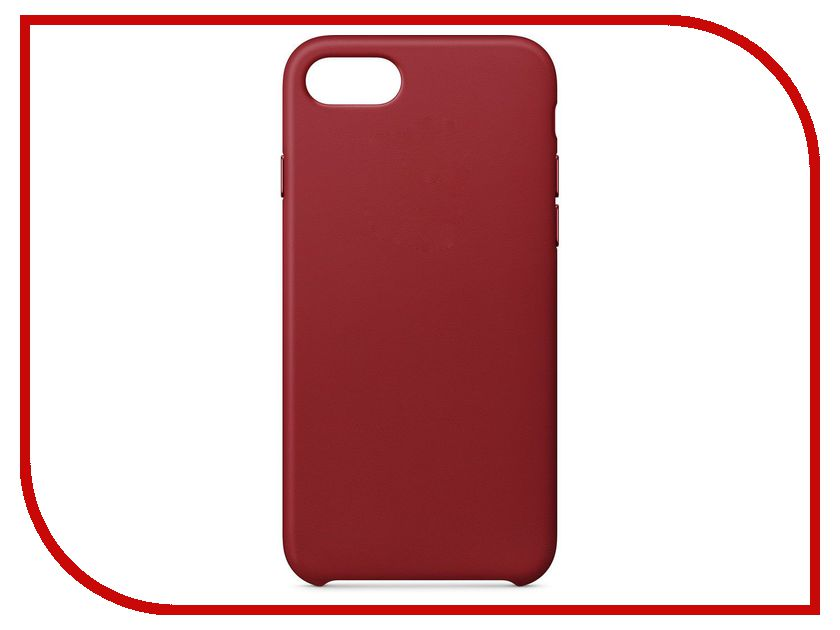 Аксессуар Чехол APPLE iPhone 8 / 7 Leather Case Product Red MQHA2ZM/A аксессуар чехол apple iphone 7 8 leather case midnight blue mqh82zm a
