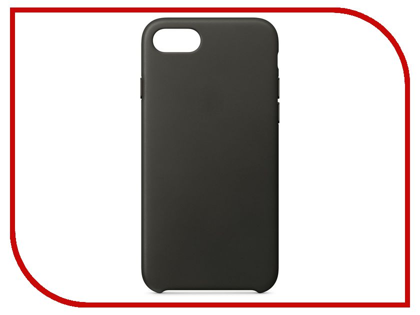 Аксессуар Чехол APPLE iPhone 8 / 7 Leather Case Charcoal Gray MQHC2ZM/A чехол apple leather sleeve для ipad pro 10 5 платиново серый mpu02zm a