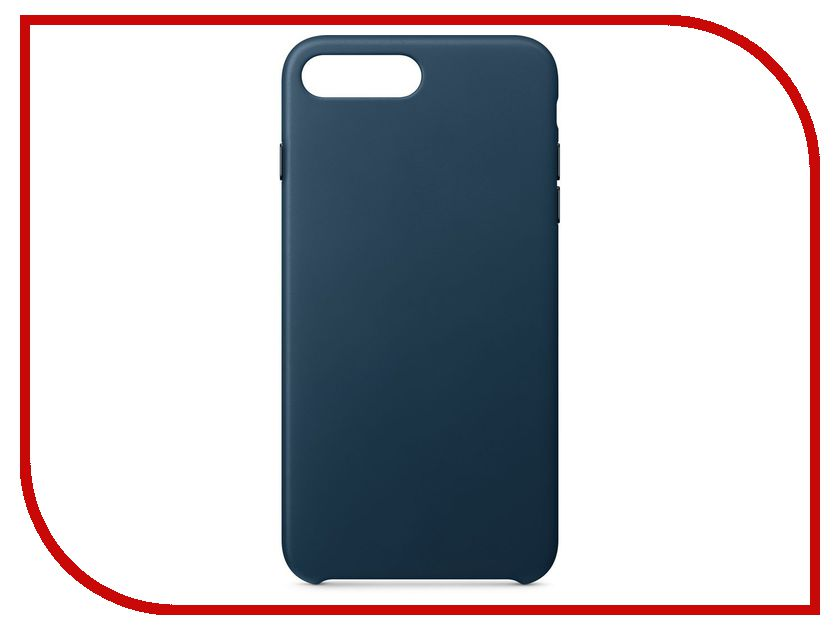 Аксессуар Чехол APPLE iPhone 8 Plus / 7 Plus Leather Case Cosmos Blue MQHR2ZM/A аксессуар чехол apple iphone 8 7 leather case cosmos blue mqhf2zm a