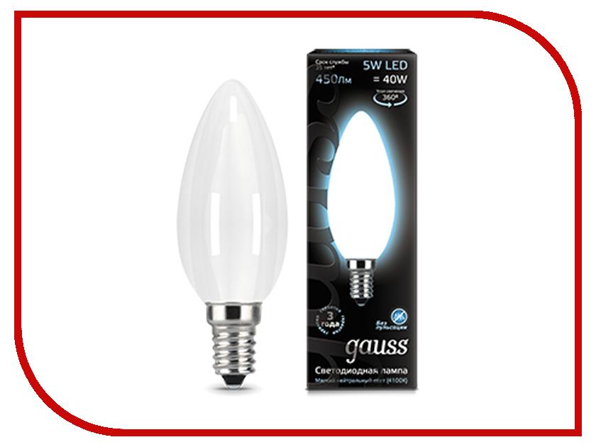 Лампочка Gauss LED Filament Candle Opal E14 5W 4100К 103201205