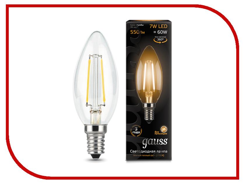 Лампочка Gauss LED Filament Candle E14 7W 2700К 103801107