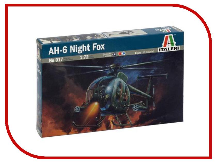 Сборная модель Italeri Вертолёт AH-64 Night Fox 0017 сборная модель italeri самолет cant z 506 airone 1360