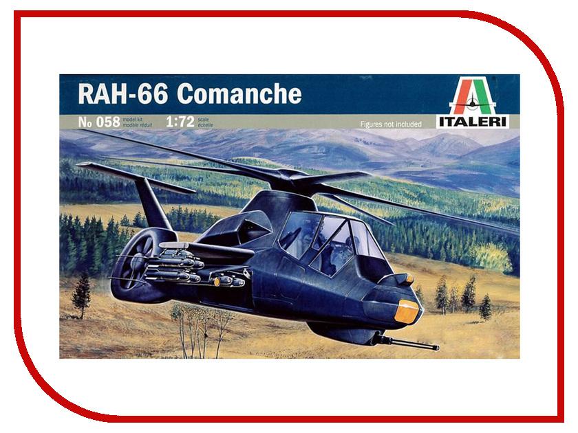 Сборная модель Italeri Вертолёт Rah-66 Comanche 0058 вертолёт моделист ан 64а