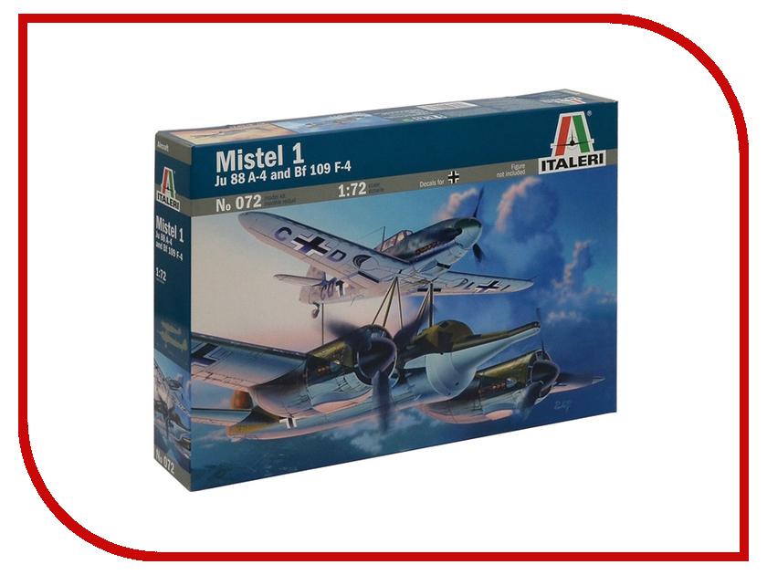 Сборная модель Italeri Самолеты Mistel 1 Ju 88 A-4 и BF 109 F-4 0072 ju ju be сумка для мамы hobobe black petals
