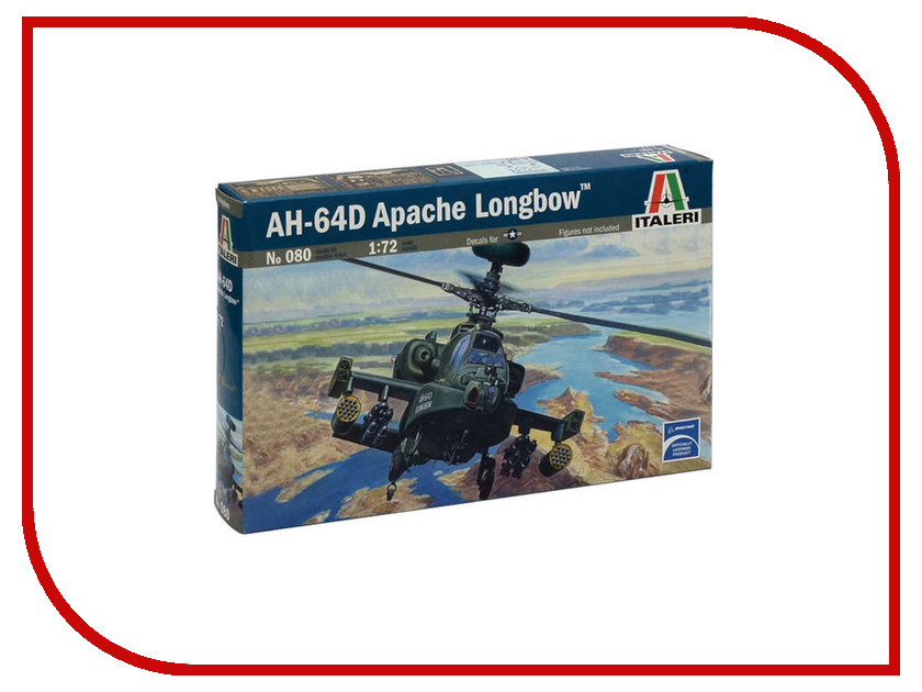 Сборная модель Italeri Вертолёт AH-64D Apache Longbow 0080 military modern wars diecast boeing ah 64 apache helicopter gunships can shoot alloy pull back toy with light