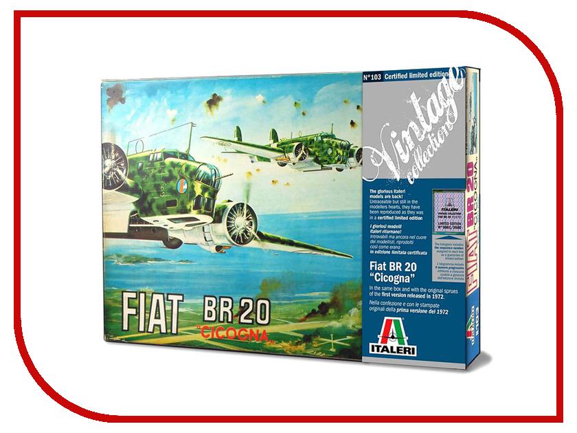 Сборная модель Italeri Самолет Br.20 Cicogna 0103 сборная модель italeri самолет cant z 506 airone 1360