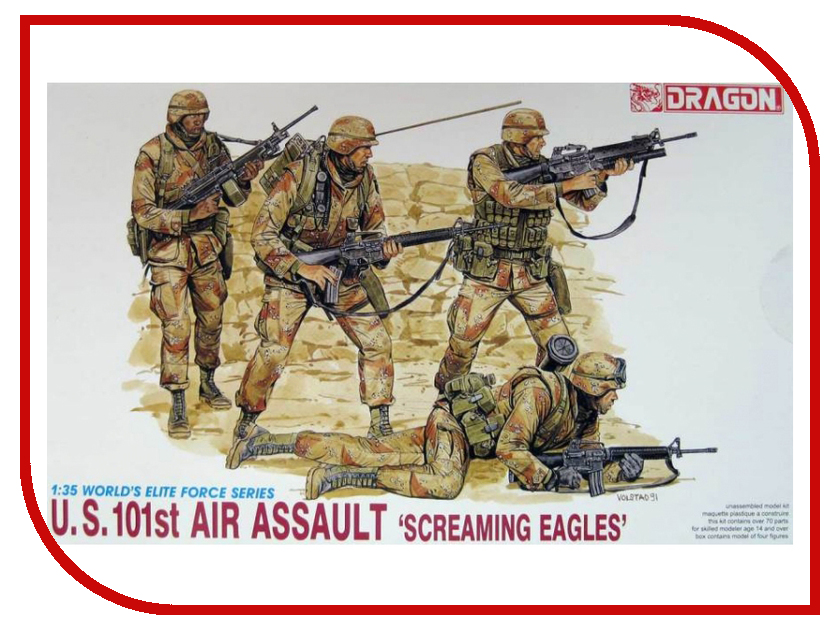 Сборная модель Dragon U.S. 101st Air Assault 3011 футболка assault ice