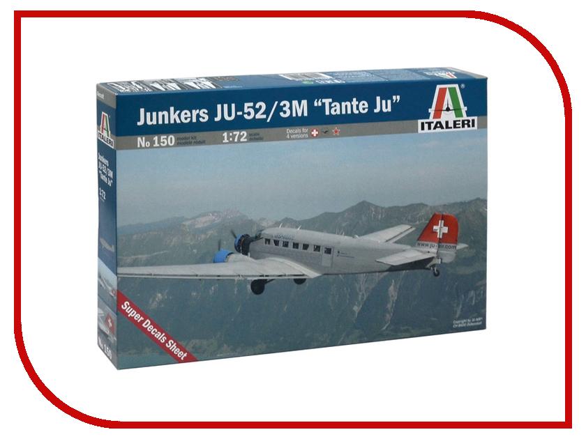 Сборная модель Italeri Самолет JU-52 Civiliano 0150 сумка для мамы ju ju be be light onyx black beauty