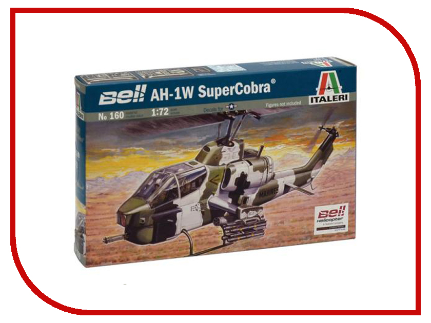 Сборные модели Вертолёт AH-1W Super Cobra  Сборная модель Italeri Вертолёт AH-1W Super Cobra 0160