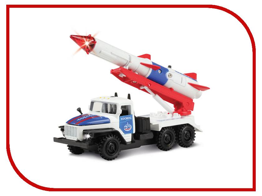 Машина Технопарк Урал с ракетой Космос CT10-066-1 трейлер технопарк с ракетой