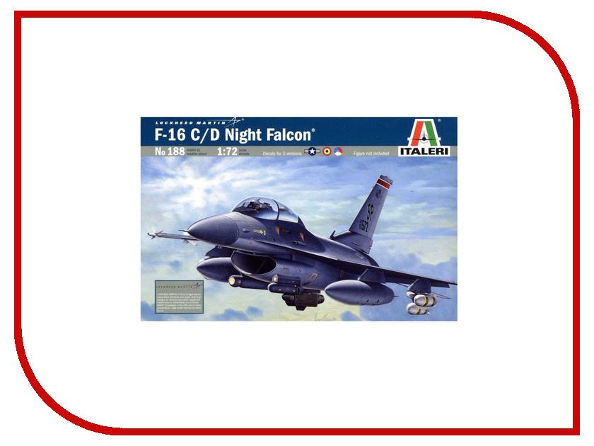 Сборная модель Italeri Самолет F-16C/D Night Falcon 0188