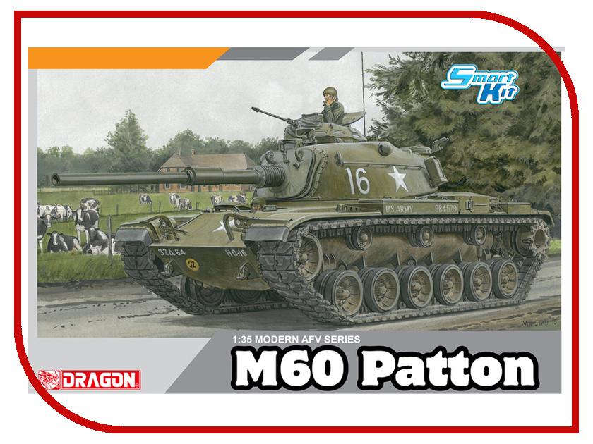 Сборная модель Dragon M60 Patton 3553 сборная модель dragon t 34 85m 3318
