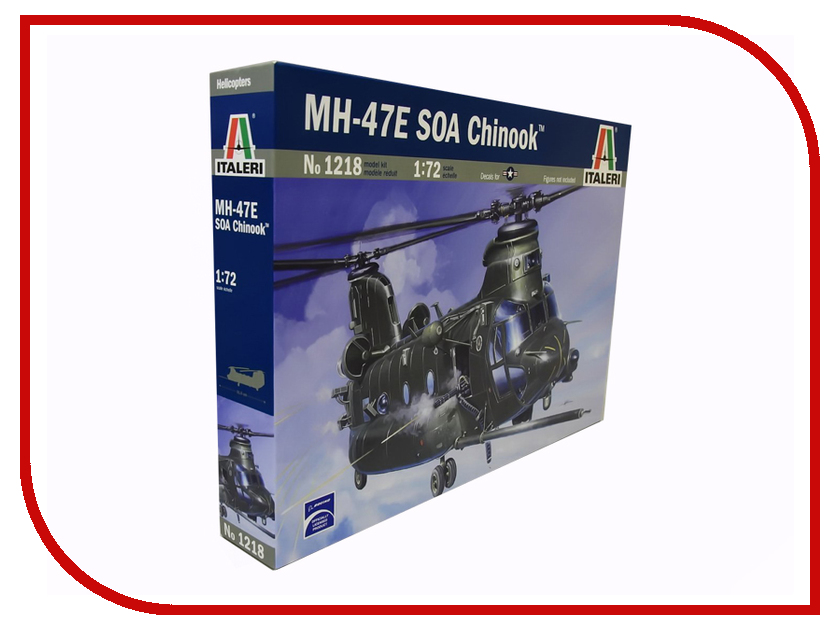Сборная модель Italeri Вертолёт MH-47 E SOA Chinook 1218 pocket scale mh 300