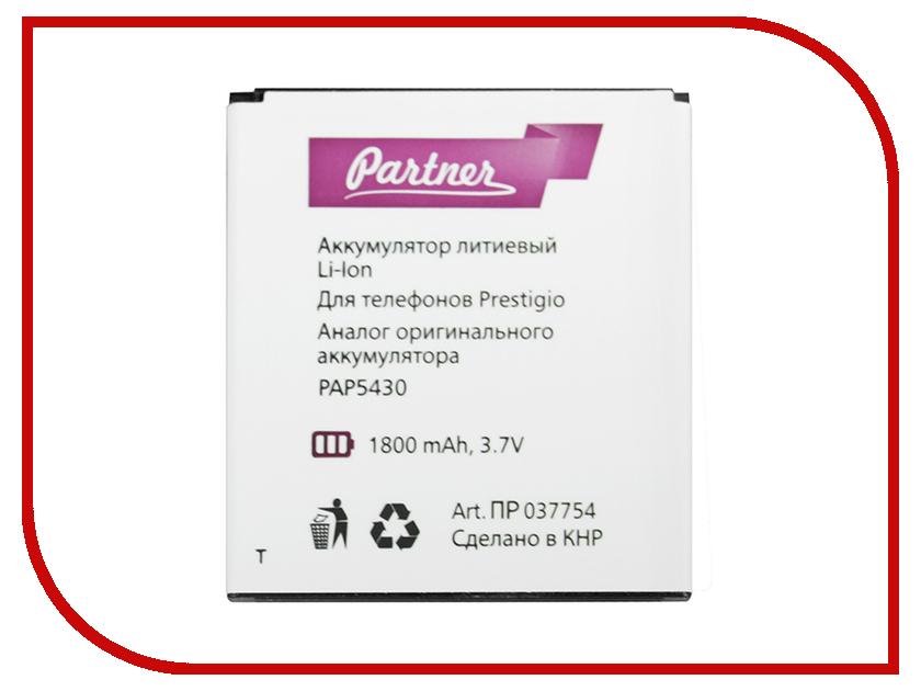Аксессуар Аккумулятор Prestigio PAP5430 Partner 1800mAh ПР037754 аксессуар аккумулятор explay easy light partner 1800mah пр034075