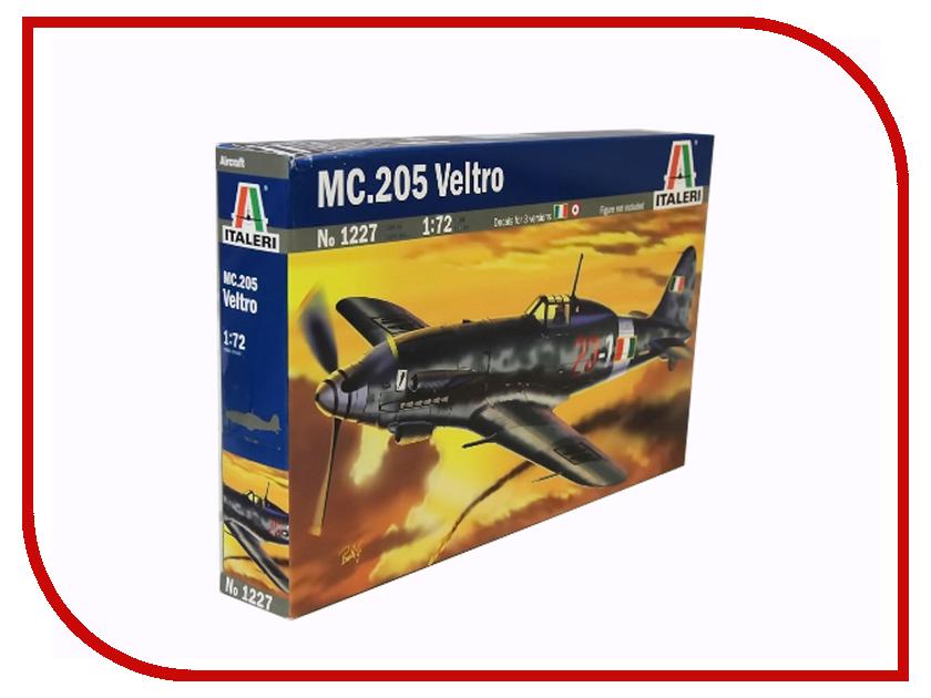 Сборная модель Italeri Самолет MC 205 Veltro 1227 сборная модель italeri самолет cant z 506 airone 1360