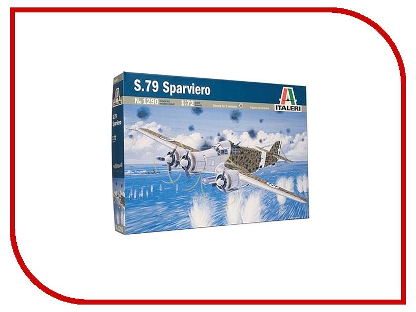 Сборная модель Italeri Самолет S.79 Sparviero 1290 сборная модель italeri самолет cant z 506 airone 1360