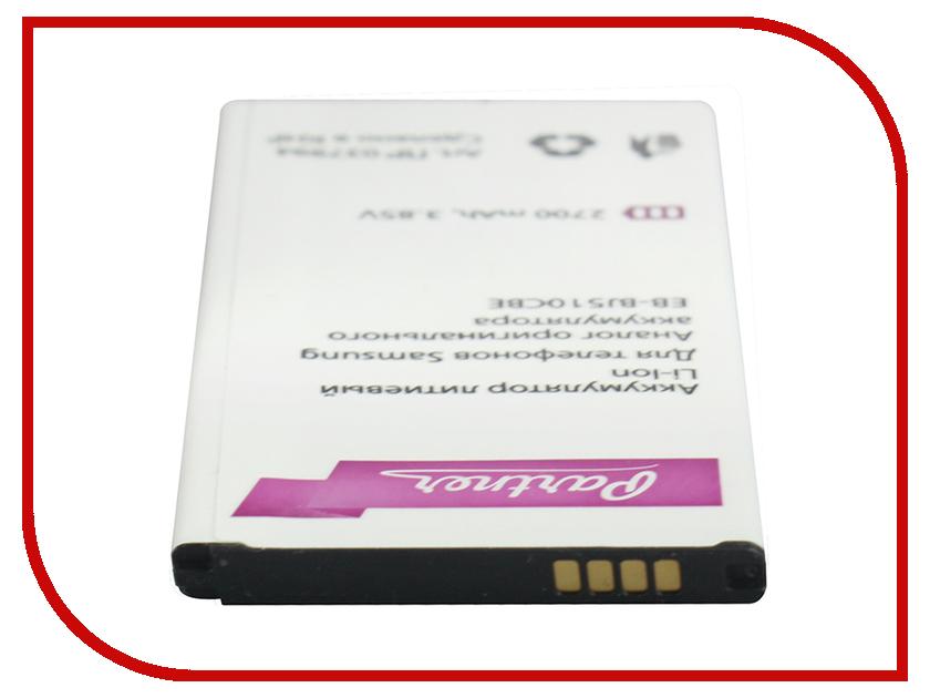 Аксессуар Аккумулятор Samsung EB-BJ510CBE Partner 2700mAh ПР037994 аксессуар аккумулятор samsung galaxy j1 eb bj100cbe partner 1850mah пр034158