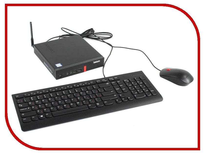 Lenovo Настольный компьютер Lenovo ThinkCentre M710q Tiny 10MRS04200 (Intel Core i3-7100T 3.4 GHz/4096Mb/1000Gb/Intel HD Graphics/Wi-Fi/Bluetooth/GbitEth/Windows 10 Home 64-bit)