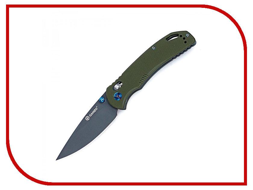 Нож Ganzo G7533-GR Green - длина лезвия 88мм ganzo g302b мультитул