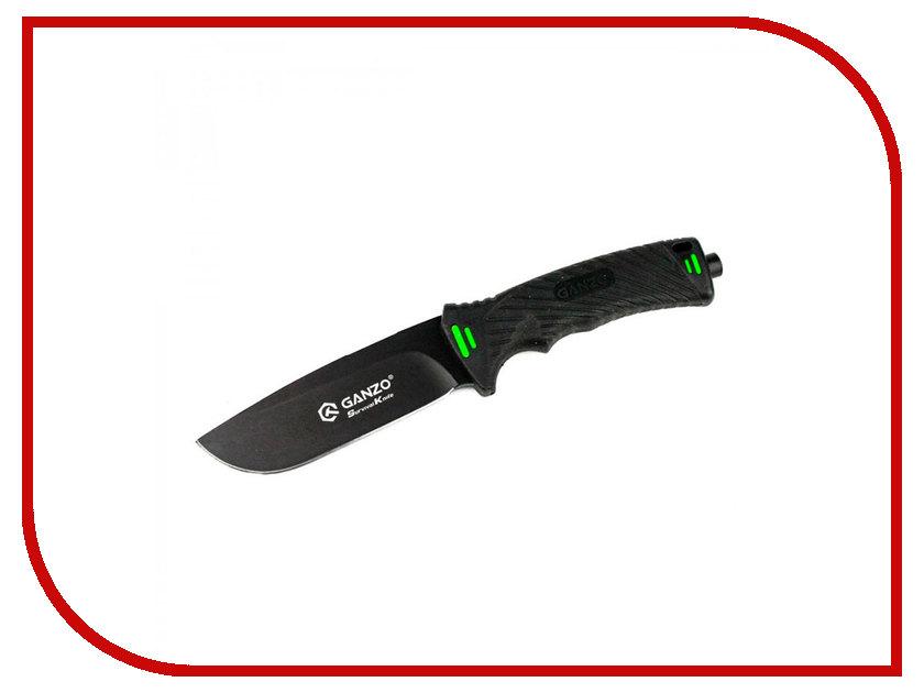 Нож Ganzo G8012-BK - длина лезвия 115мм ganzo g302b мультитул