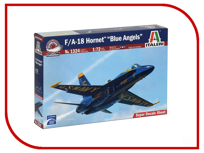Сборная модель Italeri Самолет F/A- 18 Hornet Blue Angels 1324