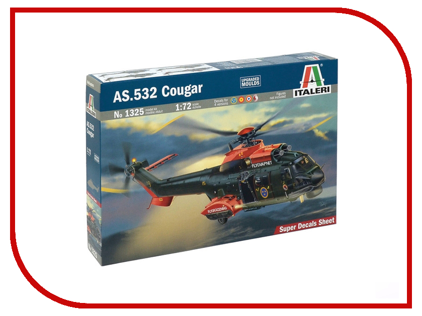 Сборная модель Italeri Вертолёт AS.532 Cougar 1325
