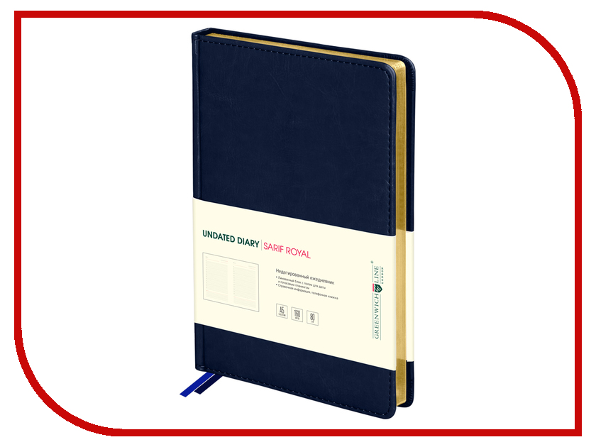 Ежедневник Greenwich Line Sarif Royal A5 Blue Gold ENA5CR-11051 248108