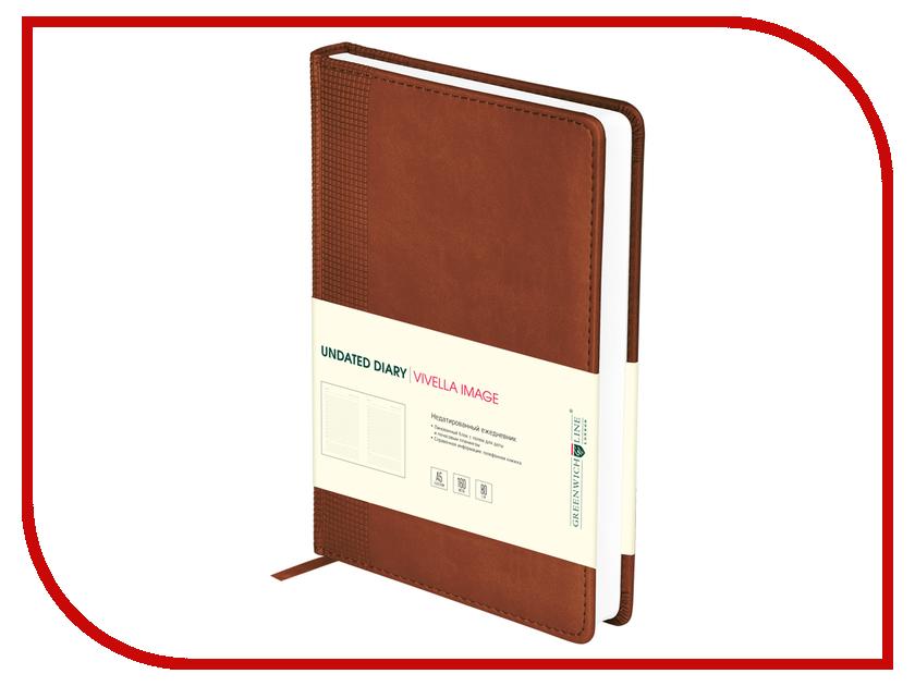 Ежедневник Greenwich Line Vivella Image A5 Brown ENA5-10953 248062 greenwich line дневник школьный mercury цвет красный