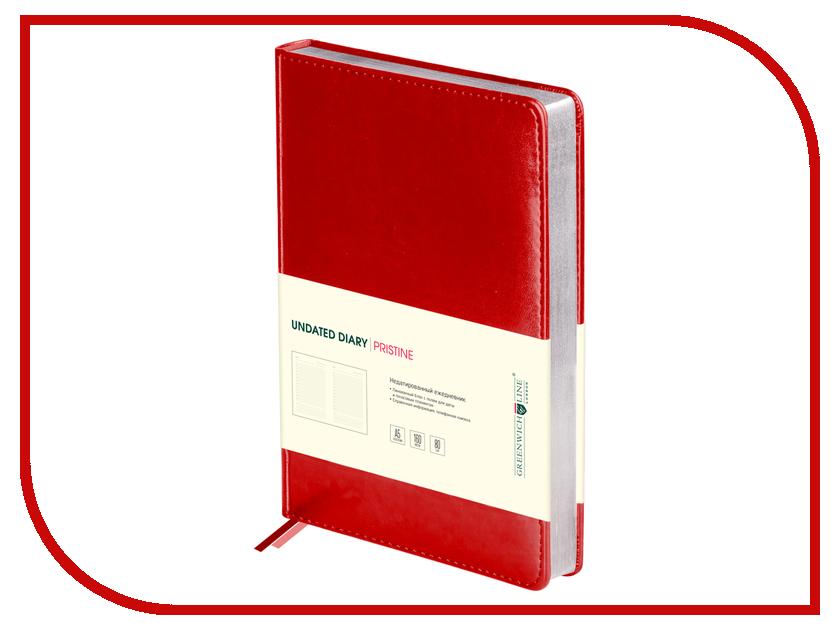 Ежедневник Greenwich Line Pristine A5 Red Silver ENA5-11125 248010 greenwich line дневник школьный mercury цвет красный