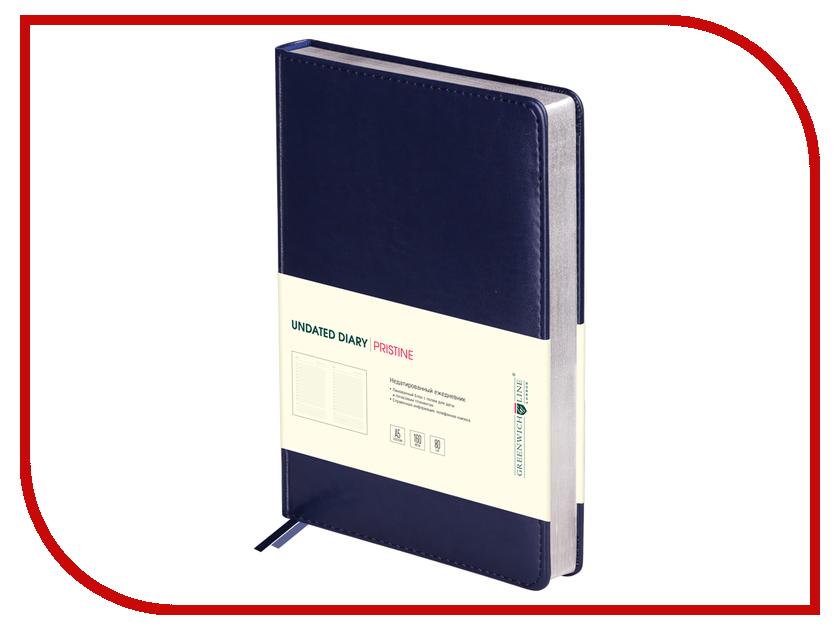 Ежедневник Greenwich Line Pristine A5 Blue Silver ENA5-11127 248011 greenwich line дневник школьный mercury цвет красный