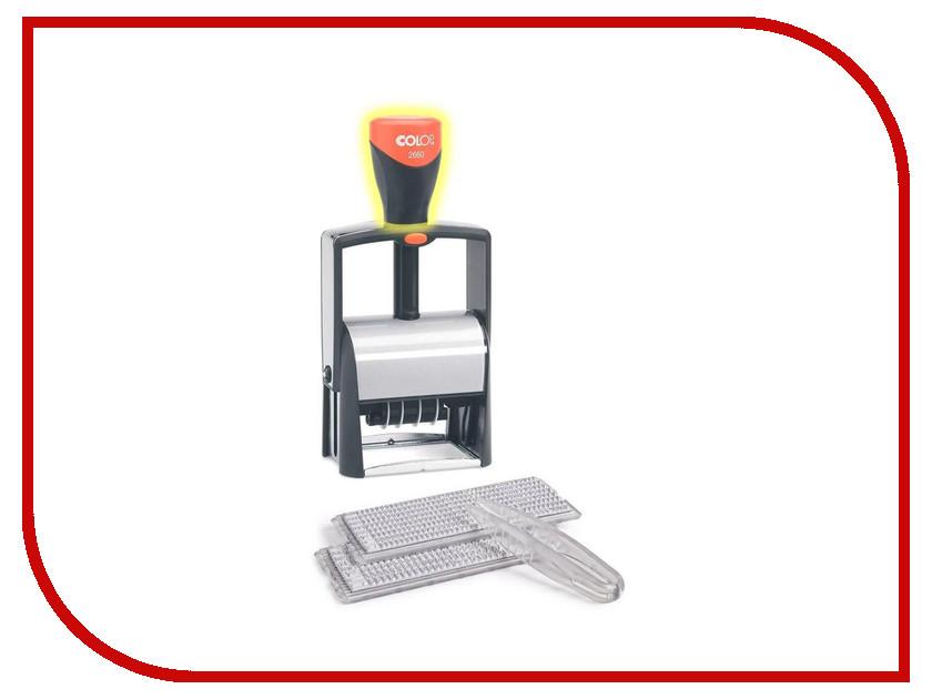 Датер автоматический Colop S2660 Set F4 37x58mm 89770 colop печать самонаборная карманная stamp mouse r 40 1 5 set