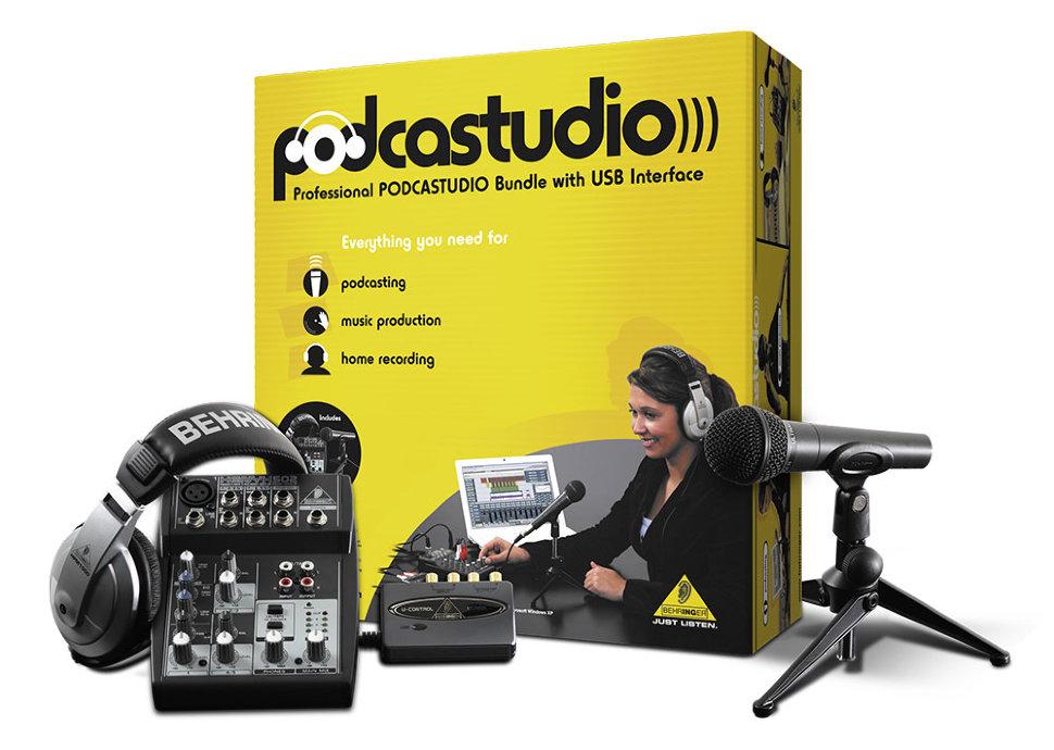 Комплект для звукозаписи Behringer PODCASTUDIO behringer behringer b615d
