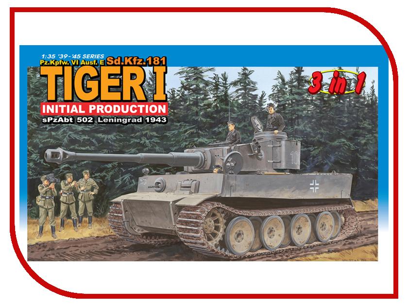 Сборная модель Dragon Tiger I 6252 сборная модель dragon t 34 85m 3318