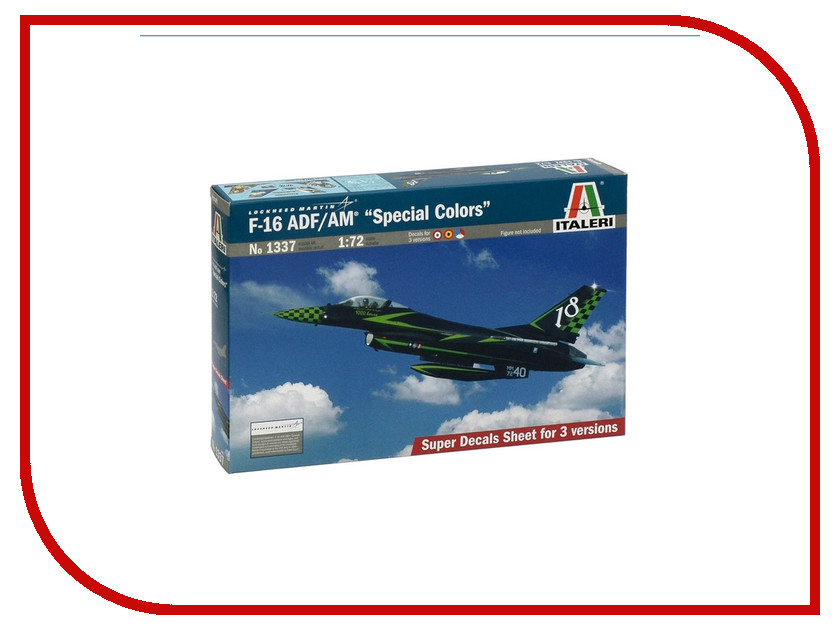 Сборная модель Italeri Самолет F-16 ADF/AM Special Color 1337 out of print italeri 1 24 scania r143 streamline tractor cab special edition kit itl726