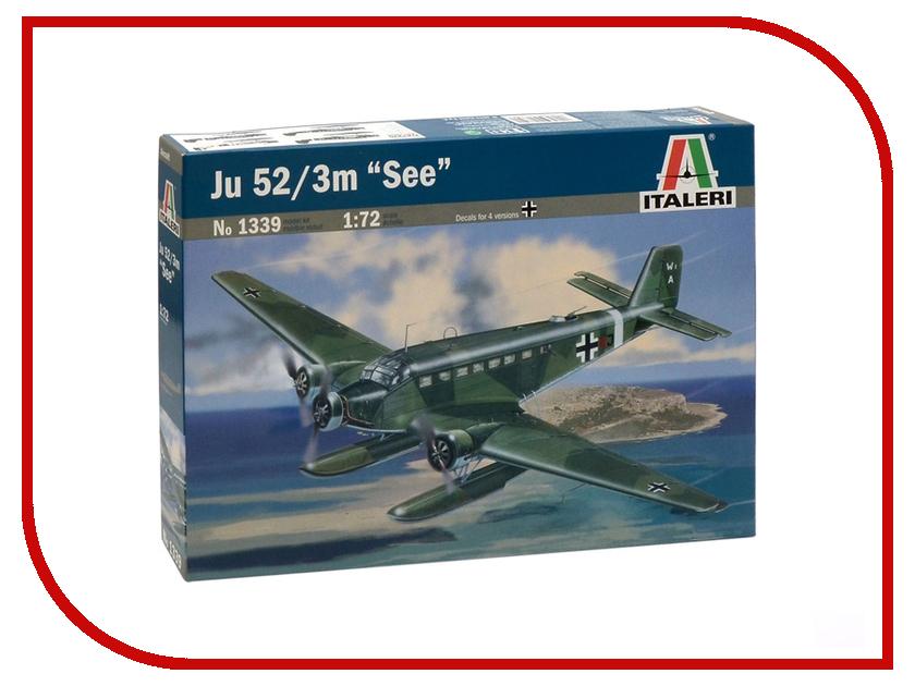 Сборная модель Italeri Самолет JU-52/3m See 1339 ju ju be сумка для мамы hobobe black petals