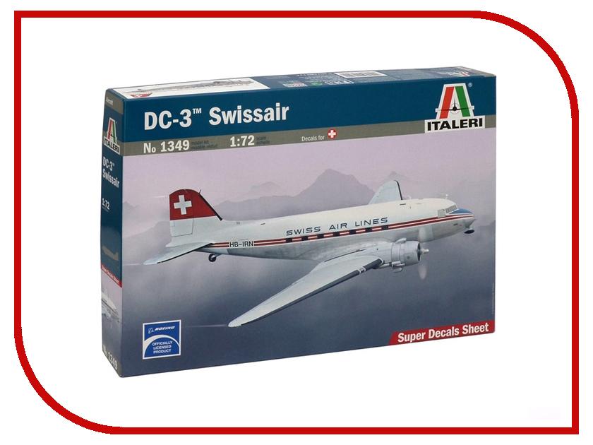 Сборная модель Italeri Самолет DC-3 Swiss 1349