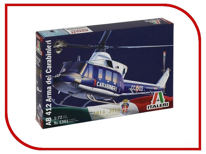 Сборная модель Italeri Полицейский Вертолёт AB-412 1361 сборная модель italeri самолет cant z 506 airone 1360