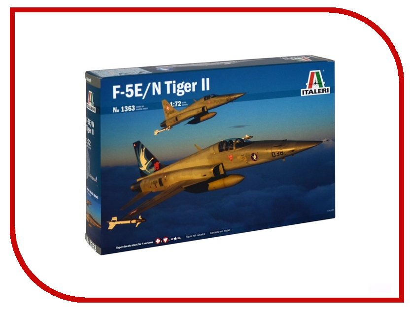 Сборная модель Italeri Самолет F-5 E/N Tiger II Suisse Special Colors 1363 out of print italeri 1 24 scania r143 streamline tractor cab special edition kit itl726