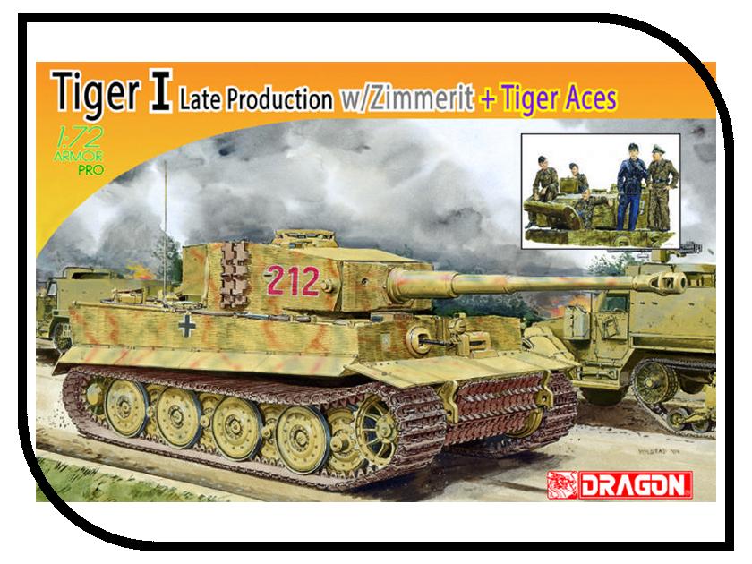 Сборная модель Dragon Tiger I 7440 сборная модель dragon t 34 85m 3318
