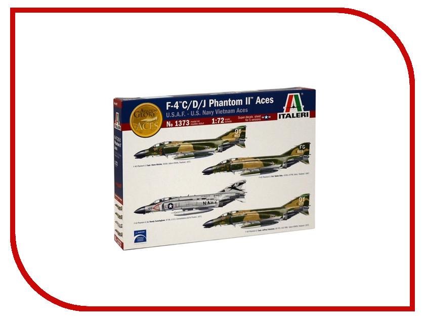 Сборная модель Italeri Военный Самолет F-4 Phantom Асы Вьетнама 1373