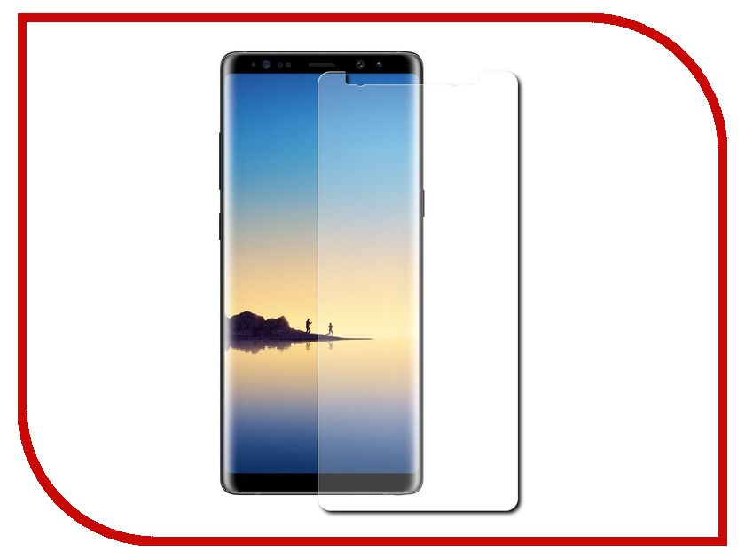 Аксессуар Защитная пленка для Samsung Galaxy Note 8 LuxCase прозрачная на весь экран 88168 аксессуар защитная пленка bq aquaris u2 luxcase на весь экран прозрачная 88980