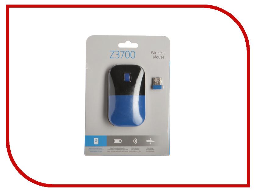 Мышь HP Z3700 Wireless Dragonfly Blue V0L81AA hewlett packard hp лазерный мфу печать копирование сканирование
