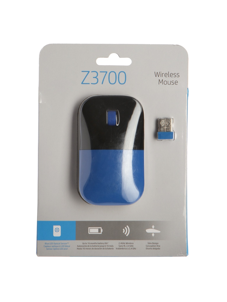 Мышь HP Z3700 Wireless Dragonfly Blue V0L81AA