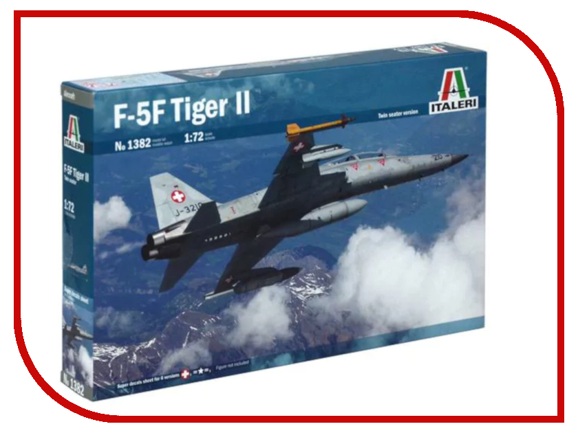 Сборная модель Italeri Самолет F-5 F Twin Seater 1382