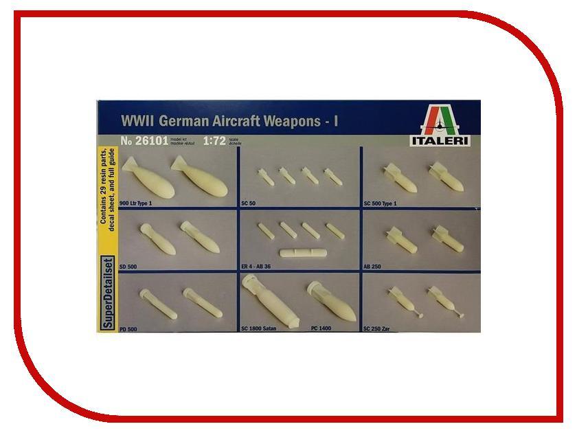 Сборная модель Italeri Набор бомб WWII German Aircraft Weapons-1 26101 потолочная люстра freya chabrol fr2302 cl 09 wg